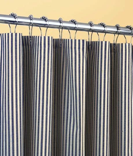 ticking stripes shower curtain things i want