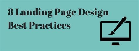 8 landing page design best practices