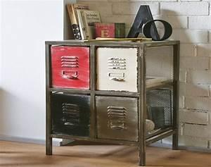 Meuble Appoint Cuisine : meuble 4 tiroirs style atelier becquet ~ Melissatoandfro.com Idées de Décoration
