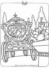 Coloring Cinderella Pages Carriage Disney Princess Horse Drawing Printable Prince Drawn Horses Fun Princesscoloringpages Children Sheets Popular Christmas Getdrawings Couples sketch template