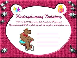 einladungskarten kindergeburtstag vorlagen gratis