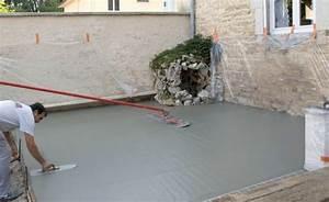 Faire Une Chape Exterieur : terrasse beton infos et conseils sur la terrasse b ton ~ Premium-room.com Idées de Décoration