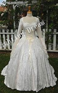 Fantasy medieval velvet and lace wedding gown costume made for Wedding dress costume for adults