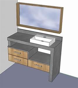 Meuble Sous Plan De Travail : fabrication meuble sdb 19 messages ~ Teatrodelosmanantiales.com Idées de Décoration