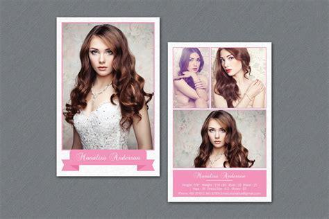 fashion model comp card  flyer templates creative