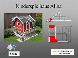 Bauanleitung Spielhaus Holz : bauplan kinderspielhaus ohne terrasse ~ Michelbontemps.com Haus und Dekorationen