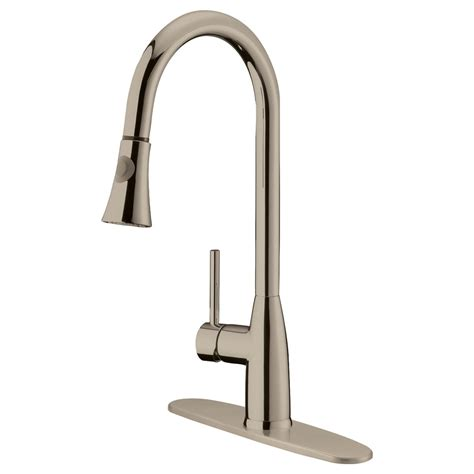 lk5b pull down kitchen faucet brushed nickel finish