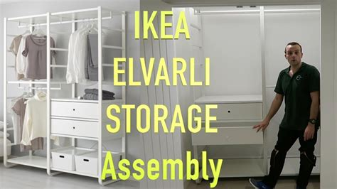 diy closet system ikea elvarli wardrobe storage assembly