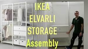Ikea Vidga Montageanleitung : ikea elvarli wardrobe storage assembly youtube ~ Eleganceandgraceweddings.com Haus und Dekorationen