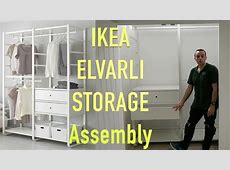 IKEA ELVARLI WARDROBE storage Assembly YouTube