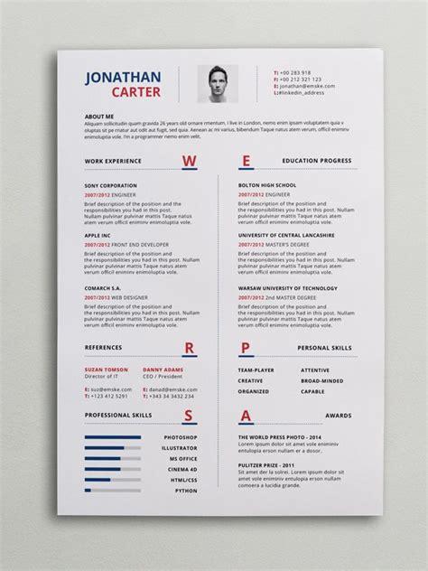 modern resume cv template curriculum vitae modern