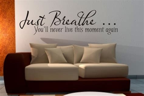 Quotes About Living Room by Just Breathe Wall Sticker Quote Living Room Bedroom