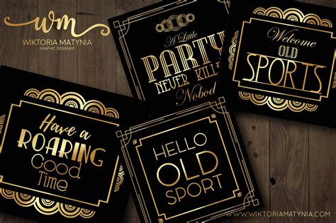 Great Gatsby's Party Art Deco Templates Collection on
