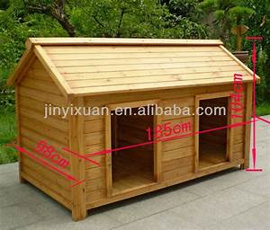 Wood Double Dog Kennel / Outdoor Large Dog House for Two ...