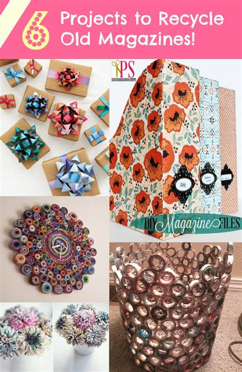 6 Projects to Recycle Old Magazines!   DiscountQueens.com