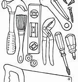 Tools Coloring Doctor Mechanic Construction Drawing Equipment Tool Lab Sheet Science Getdrawings Carpenter Printable Preschool Getcolorings sketch template