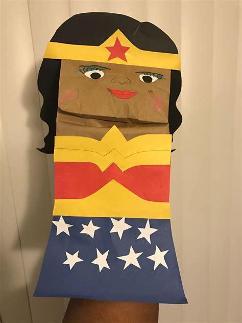 Wonder Woman Brown Paper Bag Puppet Paper Bag Puppets
