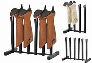 New, 3, Pair, Boot, Organizer, Rack, Closet, Stand, Holder, Organization, Black, Storage