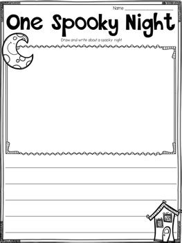 halloween writing printables activities  flipbooks