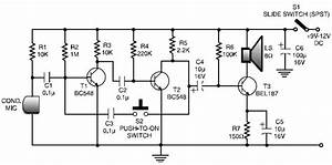 low cost and simple intercom circuit schematic With intercom circuit