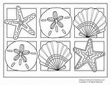 Coloring Seashells Pages Popular sketch template
