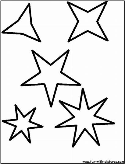 Stars Coloring Star Shape Shapes Drawing Pages