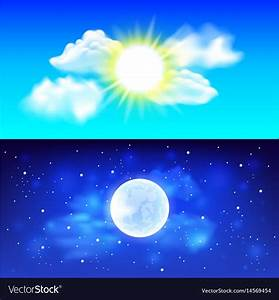 Night And Day : day and night sky background royalty free vector image ~ A.2002-acura-tl-radio.info Haus und Dekorationen