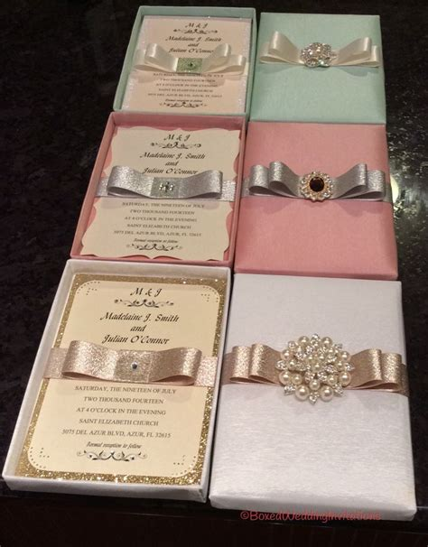Beautiful Luxury Wedding Invitation Boxes #wedding