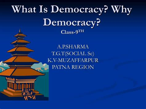 democracy  democracy class