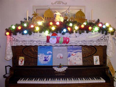 christmas decorations on piano christmas celebration