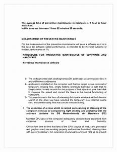Guide hardware and software maintenance english for Sample request letter for preventive maintenance