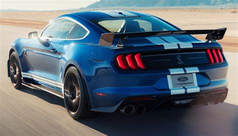 performance blue  ford mustang shelby gt  fastback