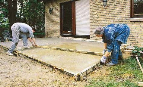 Terrasse Betonieren Dicke by Bodenplatte Garden Bodenplatten Bodenplatte