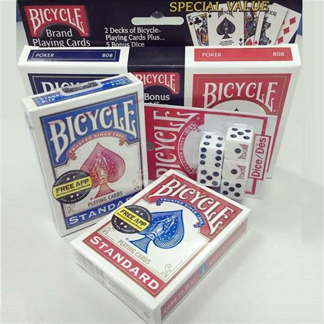 There are three main playing card sizes that you're going to see: USA Native Bicycle Standard Playing Cards Red&Blue Original 808 Rider Back Decks with 5 Bonus ...