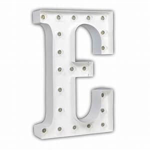 white 24 inch letter e marquee light by vintage marquee lights With white marquee letters
