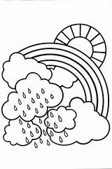 Rainy Coloring Pages Weather Rainbow Cloudy Rain Drawing Colouring Printable Lovely Bit Adults Paint Getdrawings Popular Getcolorings Nature Coloringtop Poppy sketch template