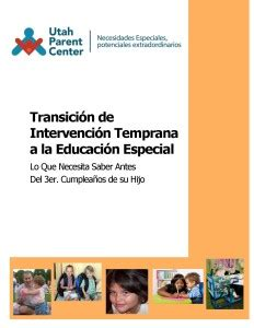 preschool utah parent center 398   Spanish Early Intervention Transition Booklet Cover 232x300
