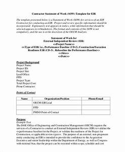 statement of work template 12 free pdf word excel With contractor statement of work template