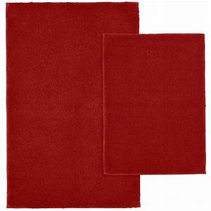 garland rug queen cotton chili pepper red 21 in x 34 in With red bathroom rug set