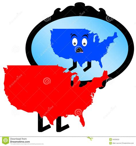 what color is the republican america mirror stock photography image 34526222