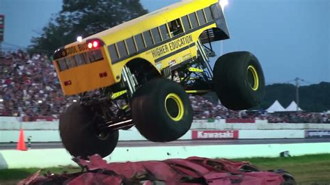 youtube monster trucks racing bus monster truck racing iron outlaw youtube
