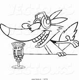 Microphone Radio Coloring Cartoon Wolf Talking Vector Pages Colorings Getcolorings Getdrawings Printable sketch template