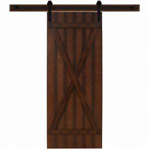 Steves sons 30 in x 90 in tuscan ii stained hardwood for 30 inch sliding barn door