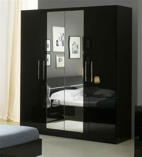 armoire chambre 4 portes armoire 4 portes gloria noir