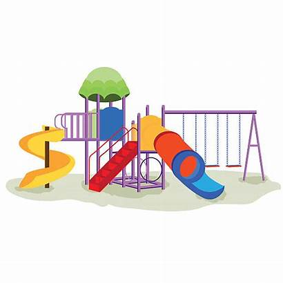 Playground Equipment Swings Columpios Slides Cartoon Med