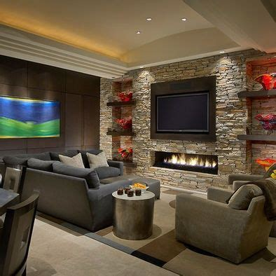 chic feature wall ideas living room  fireplace kitchen