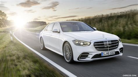 Pricing and which one to buy. 2021 Mercedes-Benz S-Class (Color: Diamond White) - Front Three-Quarter   HD Wallpaper #7