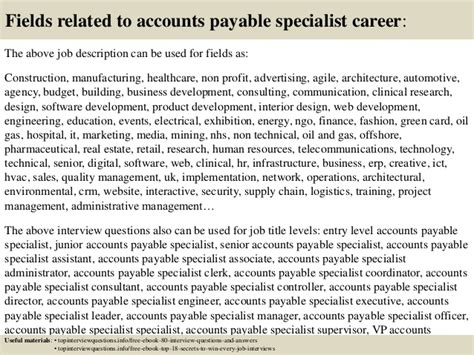 Accounts Payable Questions And Answers For by Top 10 Accounts Payable Specialist Questions And