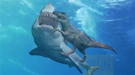 Megalodon Vs T Rex Fight Monster Shark Attack And Eat T