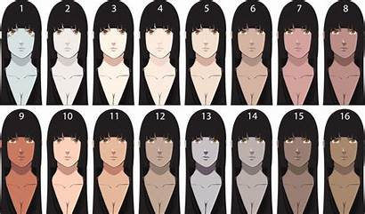 Skin Tones Tone Palette Different Naruto Texture